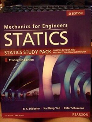 Mechanics For Engineers Statics SI Study Pack By Russell Hibbeler 9789810692865 • 10.78£