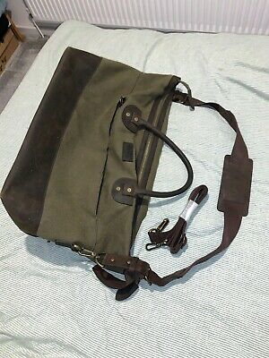 Real Leather Barbour Bag Holdall From Landrover Collaboration, Rare!! Ex Cond • 57.99£