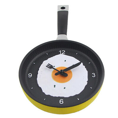 Non-Ticking Frying Pan Wall Clock Quartz Clock With 7colors For You To Choose • 12.94£