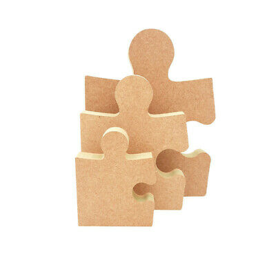 £4.60 • Buy Freestanding Puzzle Piece Shape MDF Wooden Craft Blank 18mm Gift Jigsaw Part Diy