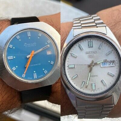 $ CDN92.51 • Buy A Lot Of 2 Vintage Seiko 5 Automatic Watch Glass Back-7s26 & Donada Mechanical