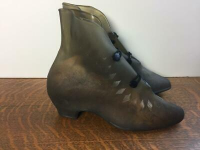 AU186.65 • Buy Vintage 1940s Womens Rubber Rain Boots Over Shoes Galoshes For High Heels Rare