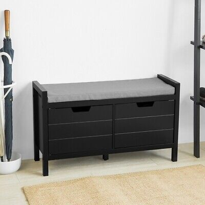 SoBuy Bench With Seat Shoe Chest Shoe Cabinet With Storage Space,FSR63-SCH,UK • 79.95£