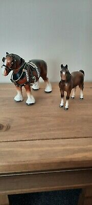 Pottery Shire Horse Animal Figurine Ornament And Pottery Horse  • 12.50£