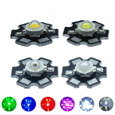 AU3.85 • Buy 1W 3W High Power LED COB Chip Lights Beads White Red Blue Yellow 660NM With PCB