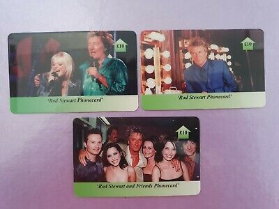 Rod Stewart Phone Card Set - Pop Collectable - Rare • 10£