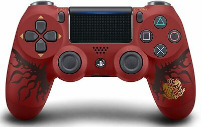 AU207.75 • Buy Wireless Controller DUALSHOCK 4 MONSTER HUNTER WORLD LIOLAEUS EDITION PS4 Red