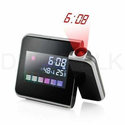 Digital Projection Alarm Clock Led With Weather Temperature  Station Lcd Display • 5.49£