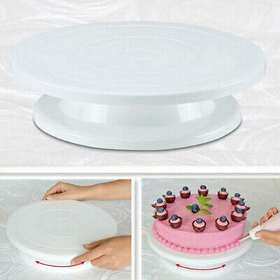 Revolving Rotating Cake Display Stand Swivel Plate Turntable Kitchen Decor White • 5.26£