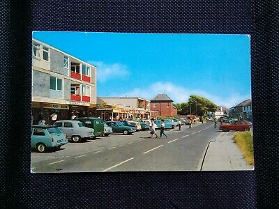 East Wittering The Parade Midland Bank Old Cars Postcard • 6.95£