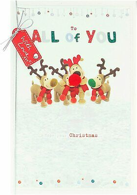 Christmas Card For All Of You For The Family Cute Boofle Design • 5.79£
