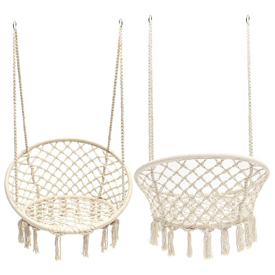 47.2inch Portable Hanging Cotton Rope Macrame Swing Hammock Chairs Room Decorati • 54.51£