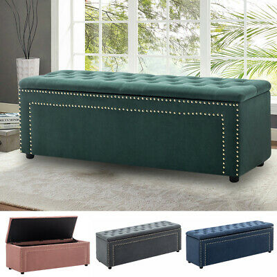 Large Chesterfield Footstool Coffee Table Pouffe Bed Bench Storage Box Ottoman • 99.95£
