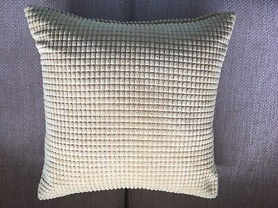 4 IKEA Saffron Yellow Waffle Cushions With Feather Pads  • 20£