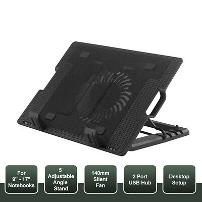 AU15.99 • Buy OZ For Laptop Notebook Cooler Cooling Stand USB Fan Pad With USB Hub