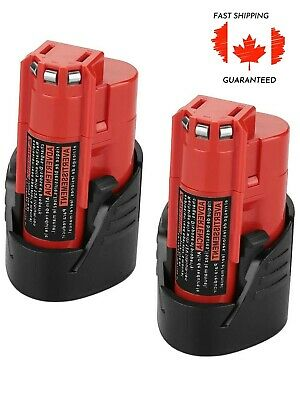 $ CDN33.05 • Buy Lithium Ion Replacement Battery For Milwaukee M12 Cordless Tools 12V 2.5Ah 2 Pcs
