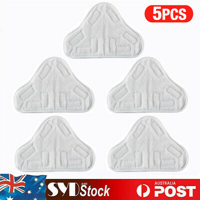 AU18.35 • Buy 5x Washable Microfiber StickOn Cleaning Mop Pads For H2O H20 X5 Steam Cleaner