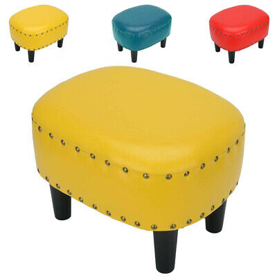 4 Legs Footrest Foot Stool PU Oval Living Room Multicolor Decor Pouffe Stool • 28.19£