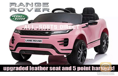 Licensed Pink 2020 Range Rover Evoque 12v Electric Kids Childs Ride On Jeep Car • 199.90£