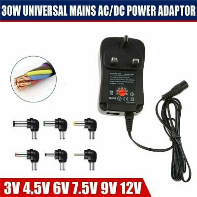 Universal AC/DC Power Supply Plug Charger Multi Adjustable Voltage Adapter 30W • 6.84£