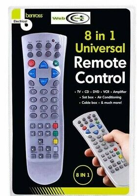 8 In 1 Universal Remote Control Smart Led Tv Cable Dvd Remote Control Television • 3.99£