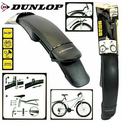 Dunlop Bicycle Bike Mud Guard 2PC Set Front Rear Mountain Bike MTB Mudguard Tyre • 7.69£