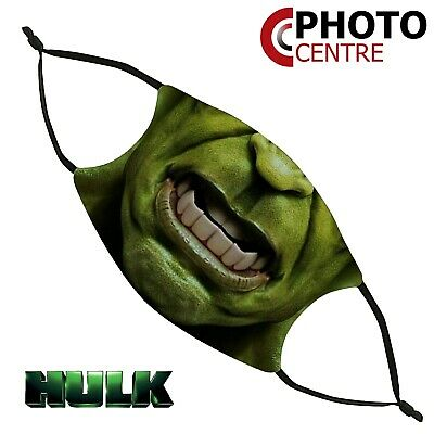Hulk Marvel Style Face Mask - Two Sizes Available With Replaceable Filter • 6.99£
