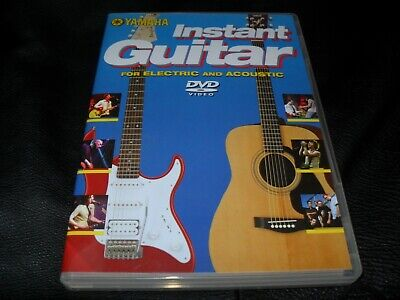 Yamaha Instant Guitar For Electric And Acoustic Official Uk Region Dvd • 2.99£