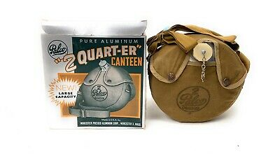 $ CDN93.86 • Buy Vintage PALCO 2 'Quart-er' Aluminum Canteen With Canvas With Cover Strap & Box
