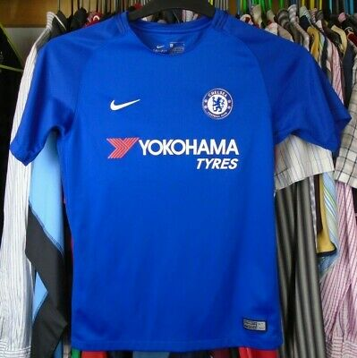 Chelsea 2017-2018 Home Nike Football Soccer Shirt Jersey Top Boys 12-13 Years • 9.99£
