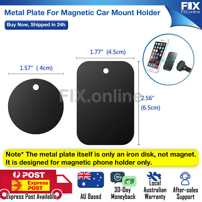 AU3.49 • Buy Metal Plate For Magnetic Car Phone Holder Accessories Stand Phone Support GPS AU