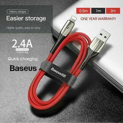 AU7.50 • Buy Baseus Cable Fast Charging Charger Cord For IPad IPhone XS XR 8 7 6 Red 0.5/1/2M
