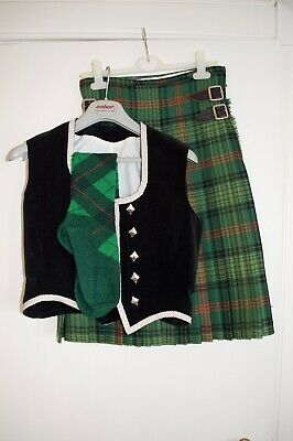 Women's Petite Highland Dancing Outfit With Socks Scottish Tartan Size Small • 135£