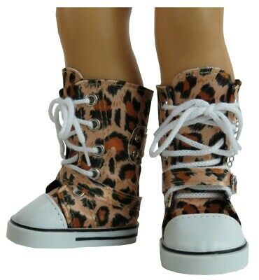 £5.81 • Buy Leopard Print Knee High Tops Sneaker Boots Fit American Girl Size Doll