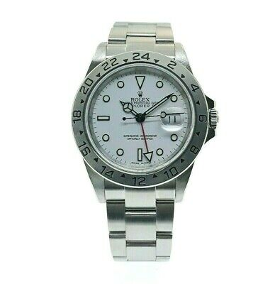 $ CDN11447.46 • Buy Rolex 40MM Polar Explorer II Stainless Steel Watch Ref # 16570 D Serial