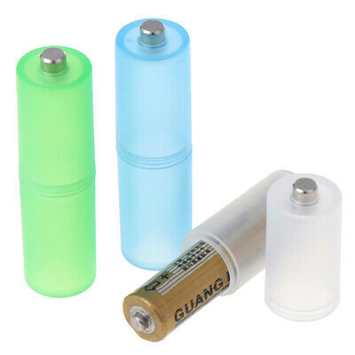 AU13.62 • Buy 4Pcs AAA To AA Cell Battery Converter Adapter Holder Case Switcher Copper C Dh