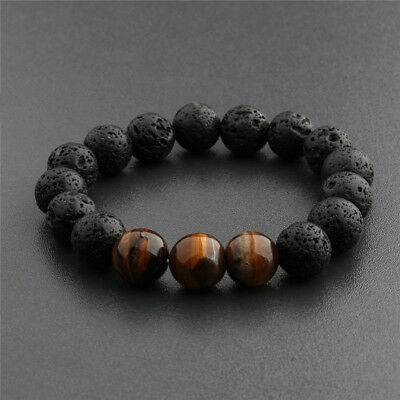 AU9.72 • Buy 1Pc Essential Oils Diffuser Bead Bracelet Lava Rock Eye For Women Men  S Dh