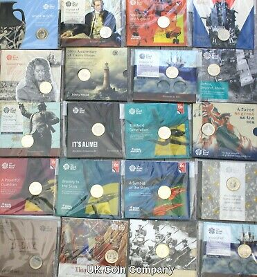 £69.95 • Buy Royal Mint Brilliant Uncirculated £2 Two Pounds Coin Packs Brand New