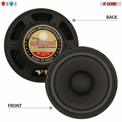 $ CDN25.10 • Buy 5 Core 10  PRO AUDIO RAW Replacement Woofer SUB 75W RMS 8 Ohm 750W PMPO WF10120