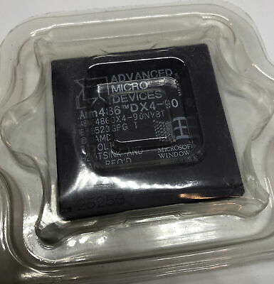 AU127.44 • Buy AMD 486 DX4 90 MHz CPU A80486DX4- 90NV8T Very Rare Vintage Processor COLLECTIBLE