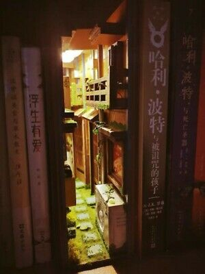 DIY Japanese Street Book Nook - Alley Shelf Insert - Bookcase With Light  • 114.07£