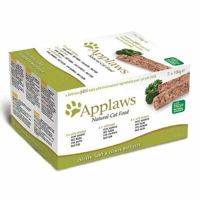 Applaws Cat Pate Multipack Chicken Lamb & Salmon 7 X 100g • 12.20£