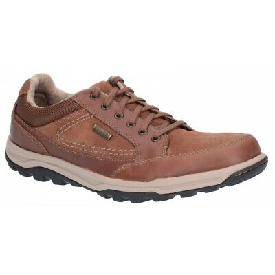 Rockport TRAIL TECHNIQUE Mens Outdoor Lace Up Waterproof Hiking Shoes Dark Tan • 86£