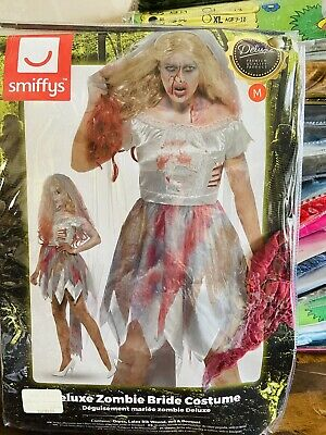 Deluxe Zombie Bride Halloween Fancy Dress • 22.99£