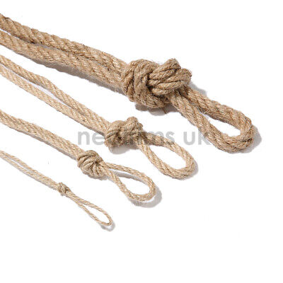 Jute Twine String Rope,Garden Decoration Cord,3 Ply,2mm,4mm,6mm,10mm Neotrim UK • 4.99£