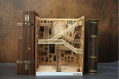 Alley Book Nook - Book Shelf Insert - Bookcase With Light Model Building Kit • 148.29£