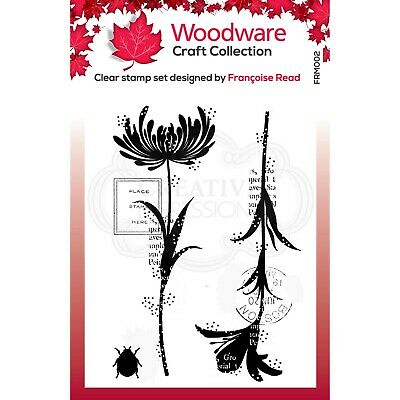 MINI FLOWER SILHOUETTES - Clear Magic Stamps - Woodware • 3.25£