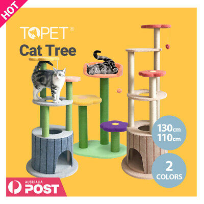 AU59 • Buy TOPET 130cm Cat Tree Trees Scratching Post Scratcher Tower Condo House Bed Toys