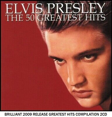 Elvis Presley - The Very Best 50 Greatest Hits - 50's 60's 70's Rock & Roll 2CD • 3.75£