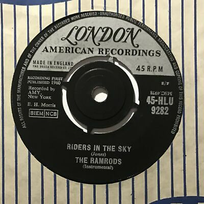 THE RAMRODS Riders In The Sky London UK 1960   Pop 7  • 3.95£